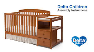 Delta Crib And Changing Table Delta Children Royal 4 In 1 Crib N Changer Assembly