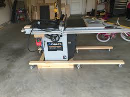 table saw mobile base table saw mobile base workshop pinterest woodworking