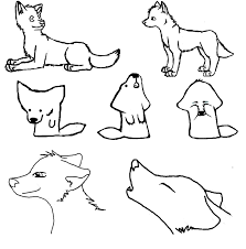cute simple wolf drawing gallery clip art library