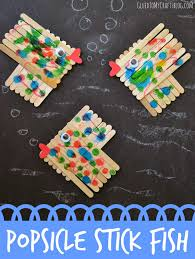 popsicle stick fish kid craft