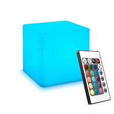 remote control bedroom l 10cm colour changing led mood cube light with remote control