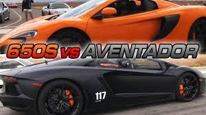 lamborghini aventador race boostaddict lamborghini aventador vs mclaren 650s spider runway