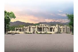 Adobe Style Home Plans Eplans Adobe House Plan Spacious Santa Fe Home 3959 Square