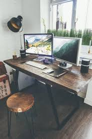 Home Office Wood Desk Best 25 Rustic Desk Ideas On Pinterest Office Wooden Home