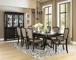 formal dining room pictures dark brown varnished wooden table