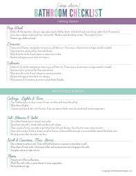 deep clean the bathroom checklist free printable
