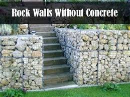 Rock Garden Wall Rock Walls Garden Garden Ideas A Sandstone Bush Rock Wall River