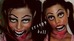 creepy doll halloween makeup tutorial youtube