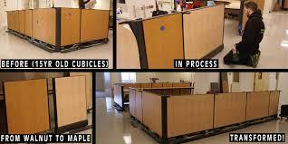 providence hospital interior cubicles wood grain wraps