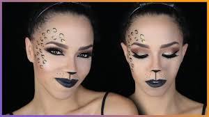 halloween leopard makeup tutorial glam cat halloween makeup tutorial cheetah halloween makeup