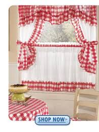 Vintage Style Kitchen Curtains by Red Gingham Country Cottage My Pods Pinterest Kitchen