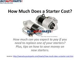 how much does a starter cost