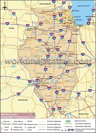 Illinois Blank Map by Map Of Illinois Illinois State Map