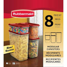 19 set usd rubbermaid modular canisters food storage container