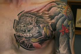foo dog by colin hinchliff tattoonow