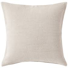 cotton chenille cushion cover 55x59cm ivory