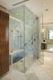 Bathroom Glass Shower His And Shower Heads Contemporary Bathroom Herzlinger