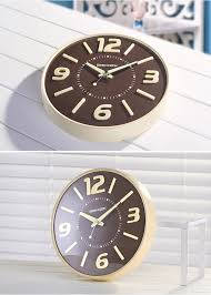 geekcook wall clocks glow in the dark home decor watch silence