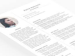 minimal resume template freebie download photoshop resource