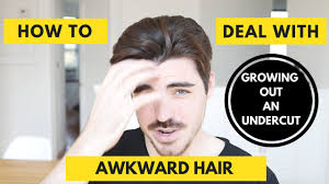 men growing hair out stages how to deal with awkward hair stage men growing out an undercut