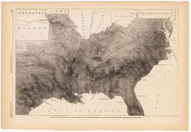 Civil War States Map Map Of The Southern States Showing The Relative Proportion Of