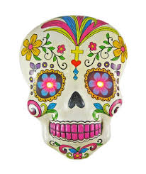 Day Of The Dead Masks Amazon Com White Day Of The Dead Sugar Skull Wall Plaque With Led
