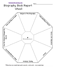 biography book report template pdf biography book report wheel printable worksheet enchantedlearning com