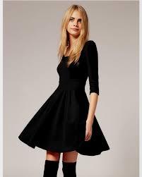 black skater dress black skater dress with sleeves naf dresses