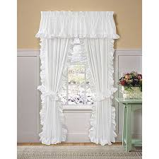 Cape Cod Curtains Cod White Ruffled Curtains And Valances