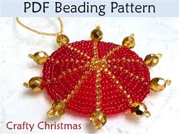 free beaded christmas ornament patterns crafty pearl filled