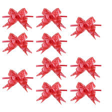 pull bow ribbon practical print christmas decoration gift pull bow ribbon