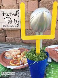 football party decorations do it yourself football party decorations julie measures
