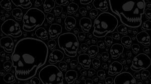 halloween background skulls black skulls on black halloween wallpaper computer background