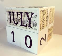 Music Decorations For Home Perpetual Sheet Music Wooden Calendar Unique Gift For Music
