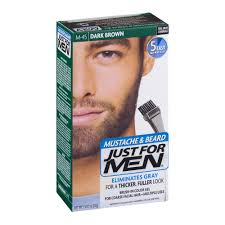 just for men mustache u0026 beard brush in color gel m 45 dark brown