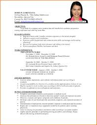 Job Description Of Bartender For Resume by Resume Sample For Job Resume For Your Job Application