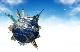 travel airplane tourism land ball planet sky plane clouds sights