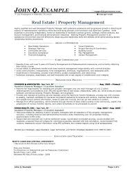 exle of resumes for resume for property manager sle resume property manager