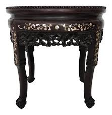 chinese rosewood side table antique chinese inlaid rosewood side table seat table seating and