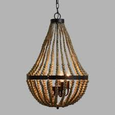 bead chandelier large wood bead chandelier world market