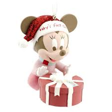 amazon com hallmark disney minnie babys first christmas 2014