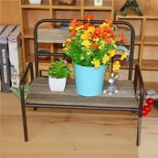 crafts wooden chairs model ornaments potted flower pots shelf