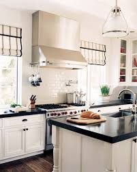 what shade of white for kitchen cabinets black and white roman shades transitional kitchen decesare