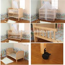 new design mulitfuntional wooden baby cot baby cribs with 2