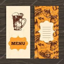 menu for restaurant cafe bar oktoberfest vintage background