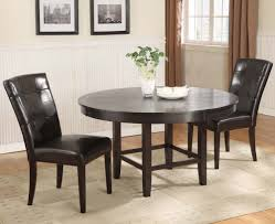 modus bossa 3 piece round dining room set in dark chocolate