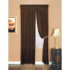 essential home luxury crushed faux silk window panel chocolate