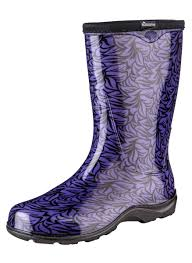 womens boots purple fashion boots by sloggers waterproof comfortable and
