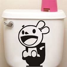 Bathroom Door Stickers Stickers For Picture More Detailed Picture About Funny Rabbit