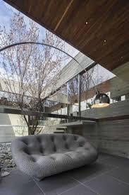 interieur et canapé jardin d intérieur et fenêtres panoramiques d une maison design